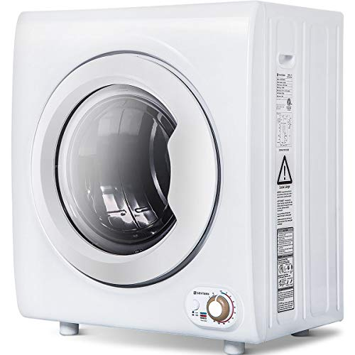 Sentern 2.65 Cu.Ft Compact Laundry Dryer - 8.8 LBS Capacity Portable Clothes Dryer with 1400W Drying Power (White - 8.8lbs)