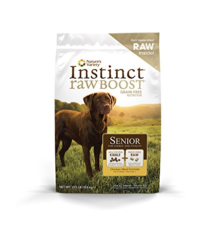 Instinct Raw Boost Senior Grain Free Chicken Meal Formula Natural Dry Dog Food by Nature's Variety, 23.5 lb. Bag