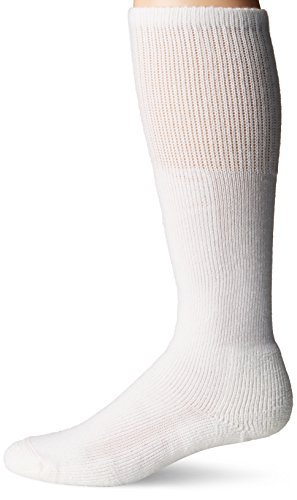 Thorlos Unisex WBO Work Thick Padded Over the Calf Sock, White, Large