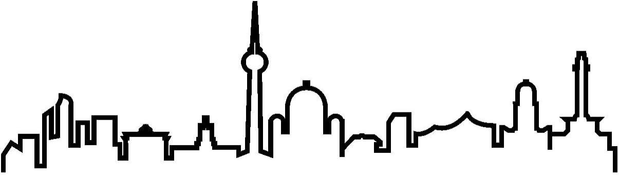Samunshi Berlin Skyline Aufkleber Silhouette In 8 Größen Und 25 Farben 40x11 1cm Schwarz Küche Haushalt