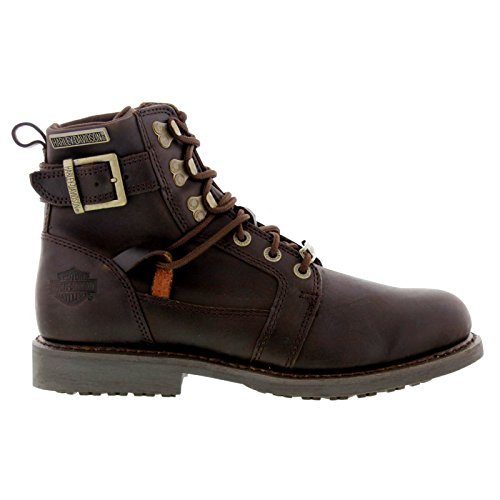 Harley-Davidson Mens Harrison Brown Leather Boots 12 US