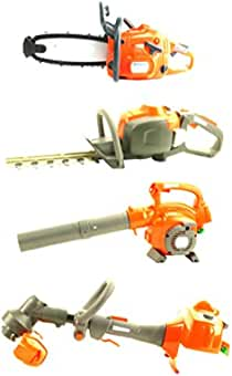 Kids Outdoor Toy Weed Garden Set Battery Operated Toys Chainsaw Hedge Trimmer...
