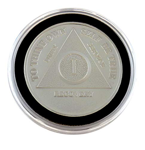 1 Year - Special AA Coins - .999 Silver AA Medallion   Recovery Shop (Silver Ounce Coin 0.5)