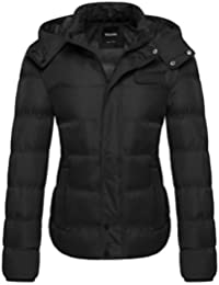 Women's Thick Winter Coat Quilted Puffer Jacket with Removable Hood