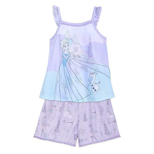 Disney Pajamas Pjs Short - Disney Elsa and Olaf Short Sleep Set for Girls - Frozen Size 5/6 Multi