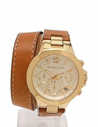 7bda5cadd867 Amazon | (マイケル・コース) MICHAEL KORS ペイトン クオーツ 腕時計 レディース クロノグラフ SS レザー ゴールド 茶  MK-2261 中古 | レディース腕時計 | 腕時計 ...