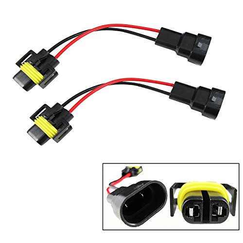 Xotic Tech 9006 to H11 Bulbs Headlights/Fog Lamp Conversion Pigtail Connectors Wiring Harness Adapter