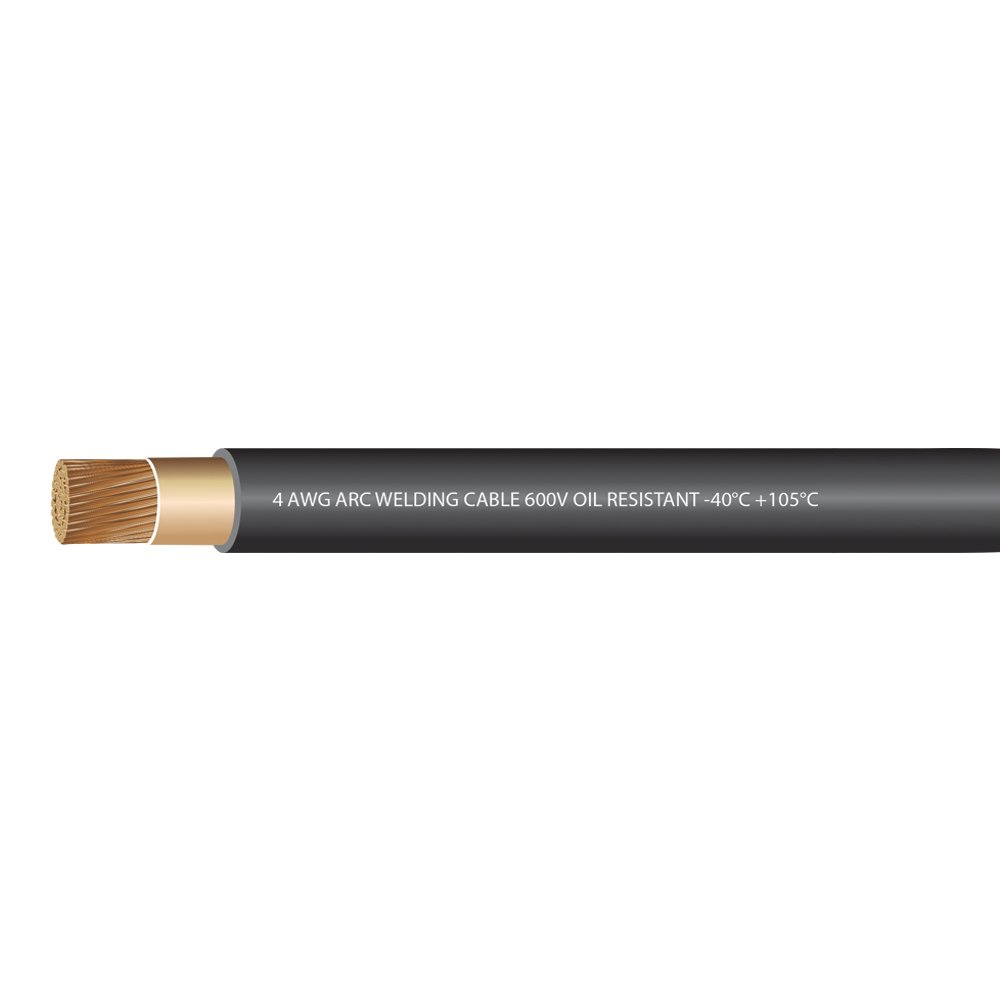 4//0 Gauge Premium Extra Flexible Welding Cable 600 VOLT BLACK 25 FEET Made in the USA! EWCS Branded