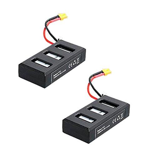 YouCute 2PCS 1300mAh batteries for MJX B6 Bugs 6 B6F B6FD Rc drone spare parts(2PCS Batteries)