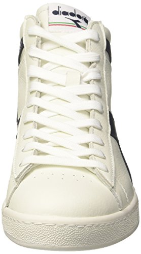Diadora Game L High, Sneaker a Collo Alto Uomo Bianco (Bianco/Blu Mar Caspio/Bianco)
