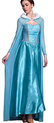 Moonight Sexy Ice Queen Princess Elsa Fancy Dress Halloween Costume