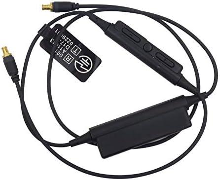 Juleyaing Bluetooth ヘッドフォン 交換用 ケーブル for Audio-Technica ATH-CKS1100 CKR90 CKR100 LS50 70 200 300 用 - ヘッドセット 受信機 コード リモコン付き A2DCコネクタ
