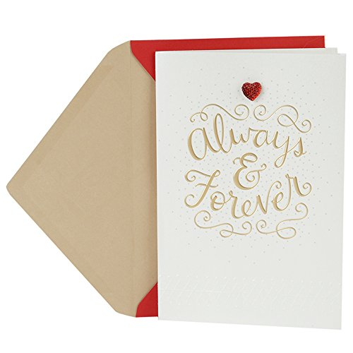 Hallmark Valentine's Day Greeting Card for Wife (White and Gold)