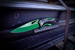 MTech USA Ballistic MT-A705 Series Spring Assist Folding Knife, 4.5-Inch Closed