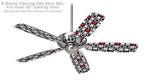 XO Hearts - Ceiling Fan Skin Kit fits most 42 inch fans