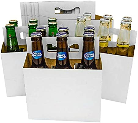 5c46e90b0c64 6 Pack Cardboard 12 oz Beer/Soda Carrier by C-Store Packaging (Pack of 24)  (White-24pk)