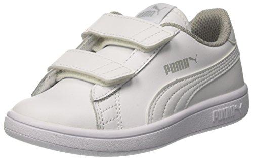 Bambini Ginnastica V2 Scarpe Basse puma L – Smash Ps Unisex Da V Bianco White White Puma puma cPq0p41wc