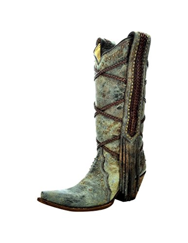 Boots A3147 Womens Corral Brown Blue UEPFqqfd