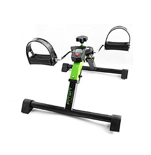 (Platinum Fitness FitSit Deluxe Folding Pedal Exerciser Leg Machine with Electronic Display, Green)
