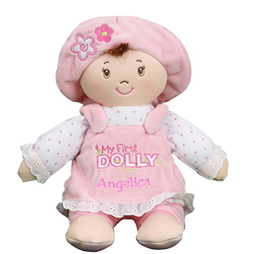 Soft Dolly Toy - GiftsForYouNow Personalized My First Dolly Brunette, Machine Washable