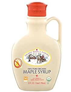 Shady Maple Farms Organic Maple Syrup Grade A, Dark Robust, 32 Ounce