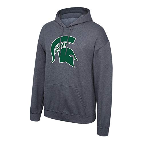 Sweatshirt Ncaa Hooded - Elite Fan Shop NCAA Men's Michigan State Spartans Hoodie Sweatshirt Dark Heather Icon Michigan State Spartans Dark Heather X Large