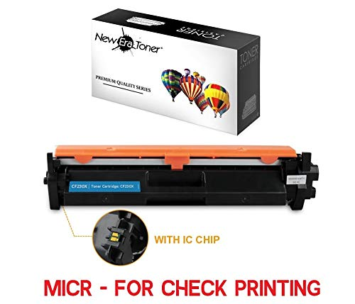 (New Era Toner - High-Yield Compatible MICR Toner Cartridge Replacement for HP 30X (CF230X) Laserjet Pro M203dw, M227fdw - with Chip (Black, 1pk))