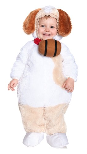 [Underwraps Baby's St. Bernard, White/Tan/Brown, X-Large] (St Bernard Baby Costumes)