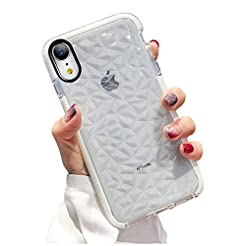 KUMTZO Compatible iPhone XR Case, Crysta...