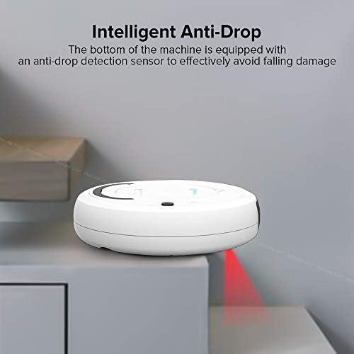 Mdsfe Aspirateur Robot Intelligent Intelligent Multifonctionnel Trois-en-Un électrique Rechargeable Humide et Sec à Double Usage - Noir