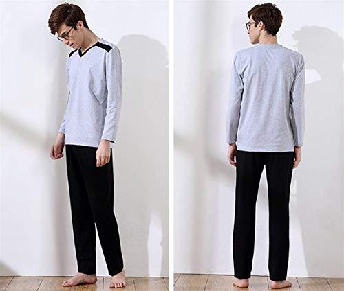 Autunno Giovane E Da Top Primavera Uomo Lunga Pantaloni Manica Suit Set Stil1 Pigiama Fashion Saoye qnAPw7Y4A