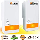 EHOUSE (2 Pack) Electronic Plugin - Best Repeller - Get Rid of - Rodents Squirrels Mice Rats Insects - Roaches Spiders Fleas Bed Bugs Flies Ants Mosquitos Fruit Fly!