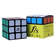 New , 5.46cm Smaller Sized Fangshi (Funs) Shuang Ren 3x3 Black Speed Cube Puzzle 3x3x3