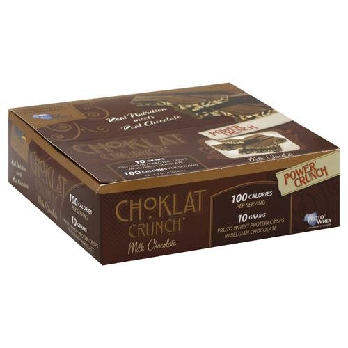 Choklat Crunch Belgian Milk Chocolate With Protein Crisps, 1.5-Ounce Boxes (Pack of (Choklat Crunch Milk)