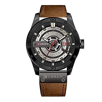 aad6ef085c8 Relógio Masculino Curren Analógico 8301 - Preto e Marrom  Amazon.com ...