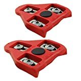 MARQUE Bike Cleats Compatible with Look Delta Pedals (9 Degree Float) - Cleat Set for Indoor Cycling and Outdoor Road Cycling Designed for Women and Men Clipless Spinning and Cycle Shoes