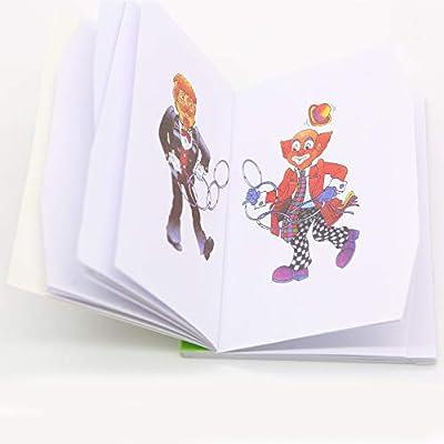 Kingmagic Coloring Magic Book Change Color Magic Book Close-Up Magic Fun Book Magic Tricks Magic Toy Magic Kits Mini Size(10.5cm13.7cm): Toys & Games