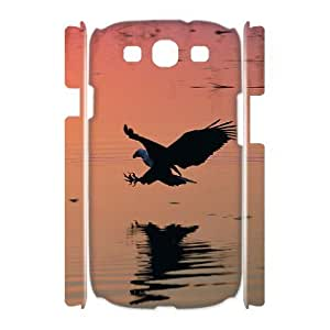 wugdiy Customized Hard Back 3D Case Cover for Samsung Galaxy S3 I9300 with Unique Design Eagle