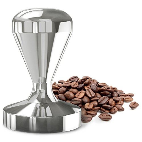 Coffee Tamper Machine, Dland 49mm 51mm Diameter Stainless Steel Flatbase Grip Handle Bean Barista Espresso Tamper Pressure Kitchens Accessories (51mm)