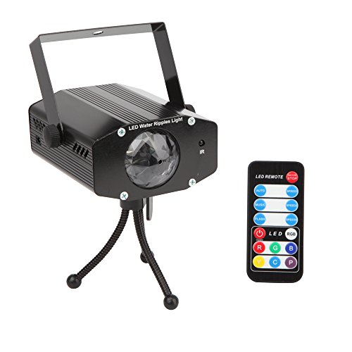 StarLight Ripple Effect Light Projector with 7 Colors, 3 Modes, 3 Speeds, Remote Control (Black) (Snow Machine Mini compare prices)