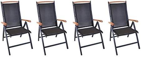 lifestyle4living Respaldo Alto, sillas de jardín, sillas Plegables, – , Jardín Sillón, Metal, sillas Plegables, Aluminio, – Silla Plegable, Madera, Madera de Teca, Plegable, Regulable,: Amazon.es: Hogar