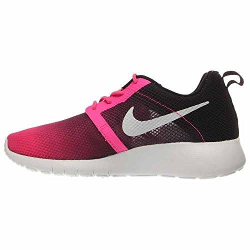 Nike Jr Rosherun Flight Weight Gs - Zapatillas Unisex Niños Rosa / Blanco