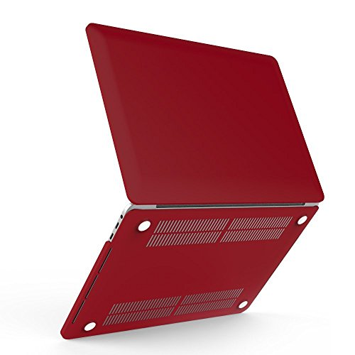 iBenzer Soft-Touch Series Plastic Hard Case for Macbook - Candy Apple Red Macbook Air Case