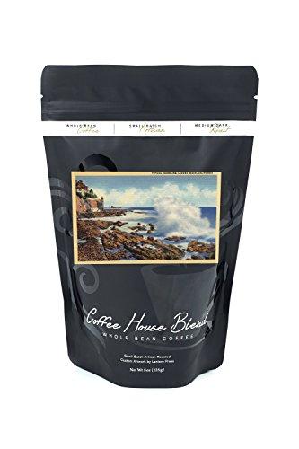 View of a Typical Shoreline (8oz Whole Bean Small Batch Artisan Coffee - Bold & Strong Medium Dark Roast w/ Artwork)