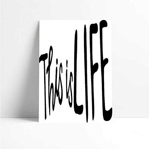 Quadro Decorativo - This is Life - Quadro 20x30