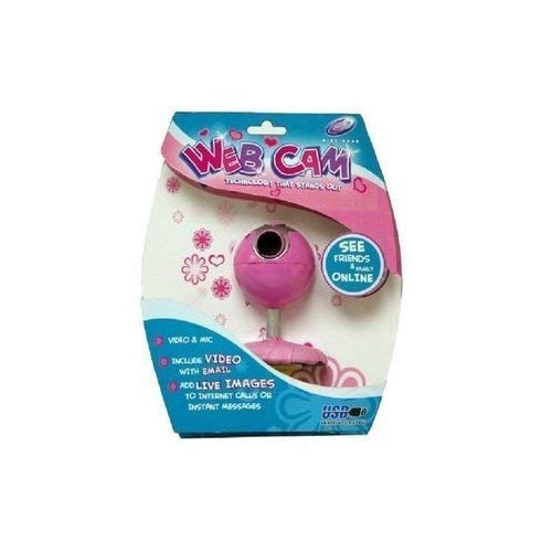 Sakar Girl Gear VGA Webcam with Mic45; Pink Daisy40;4979741;