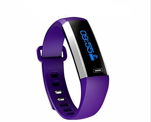 BOZHUO M2 Sports Bracelet, Megadream Bluetooth V4.0 Sports Wristband Smart Bracelet Smart Bracelet Sprots Activity Bracelet Smart Watch Pedometer Fitness Tracker Apply for IOS Android (Purple)