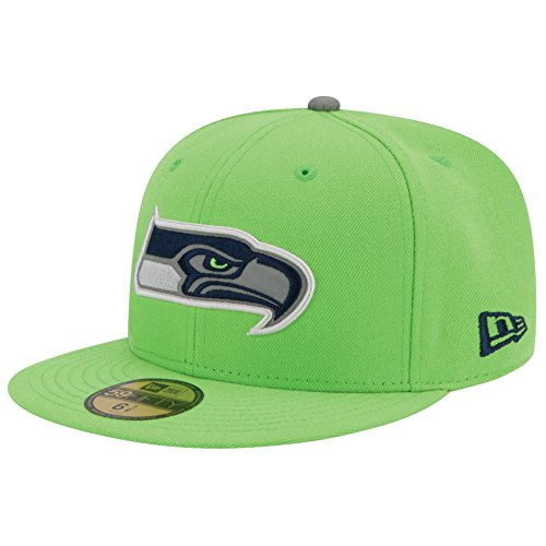 New Era Nfl 59fifty Men's Hat Thanksgiving Series Fitted Cap Seattle Seahawks Green (7 1/2)