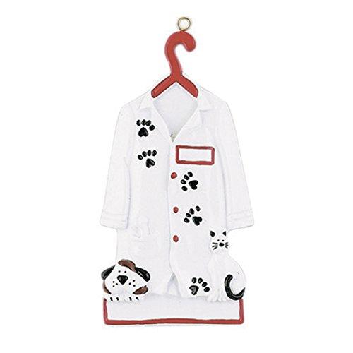 - Personalized Veterinarian Christmas Tree Ornament 2019 - Vet Uniform Hanger Paw Print Dog Cat Medical Health Care Hospital New Job Doctor Profession Animal Pet Clinic Gift Year - Free Customization
