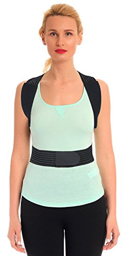 ORTONYX Posture Corrector Back Brace, Clavicle and Shoulders Support, Cool Breathable Materials/M by ORTONYX (Image #1)